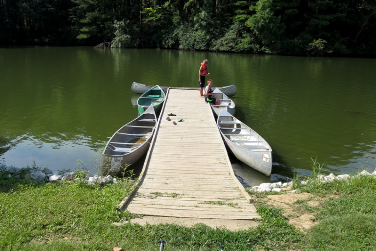 A dock like this cries for a long run and a flying leap into the cool water.