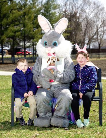 Easter Bunny Visits Park