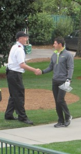 Photo/Blake Schnitker My dad, Kai Schnitker (left), shaking hands with Rory McIlroy, the current World Number One golfer and four-time major champion.