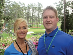 Photo/Special to The Source Newspaper My mother and I have our picture taken near the tee box of Hole 6 at Augusta National Golf Club.