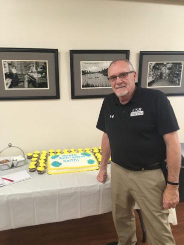 Keith Bradbury retires