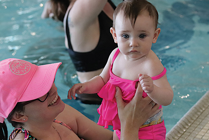 Photo/Lynn Colburn Kids of all ages are encouraged to get their toes wet at the Bob Freesen YMCA.