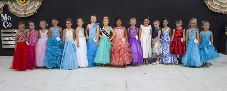 Princess contestants in dressed - Morgan County Fair Queen, Junior Miss and Princess Pageant Tuesday 9 July 2019 in Jacksonville.Photos by Tiffany & Steve of Warmowski Photography http://www.warmowskiphoto.com 217.473.5581 190709