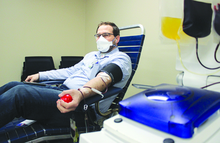 Eli Logan from Passavant Hospital participated in a blood drive at Passavant Hospital.