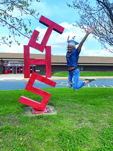 JHS Senior Macey Hynes is one of the many seniors that had their final high school year disrupted and is unsure of her official graduation schedule.