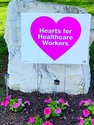 Photo/Marcy Patterson The streets of Jacksonville and the surrounding communities are lined with decorative support of local and national healthcare workers.