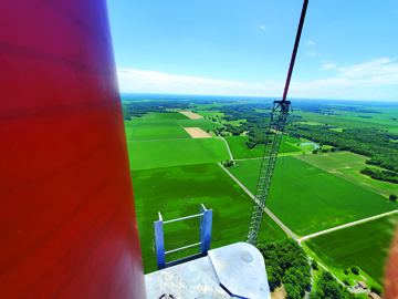 Photos Submitted to The Source Panoramic views from near the top of the old WSEC transmission tower, which was climbed by Ed Bergschneider. Bergschneider purchased the tower for scrap metal. These are about a mile outside Franklin.