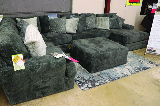 Photos/Lynn Colburn Sectional sofa available in different configurations.