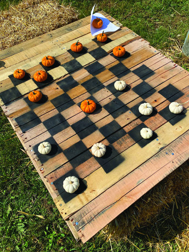 Pumpkin checkers is one of the games available to play.