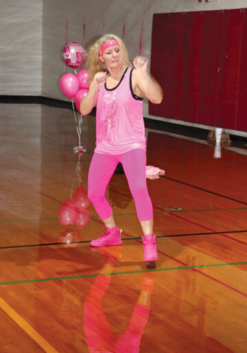 Carol Christensen lead the Zumbathon with her usual energy and enthusiasm that always motivates her classes. She kept everyone dancing, moving and getting fit through Zumba moves while they raised money for a wonderful cause.
