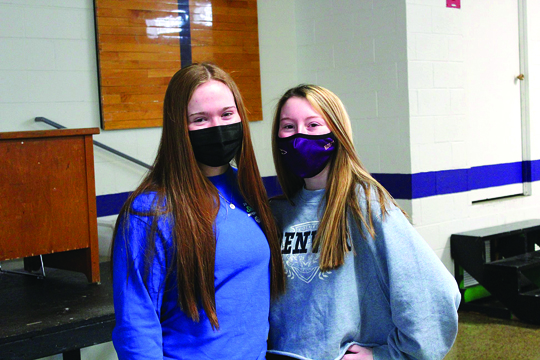 Makenna and Madison, two Teresa of Calcutta teammates, took some time out of their lunch period to smile for a picture | Community Day