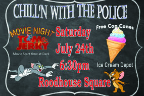 Free youth night in Roodhouse: movie and ice cream