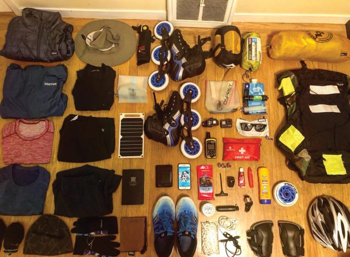Gear is all accounted for prior to his departure from San Francisco