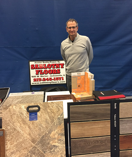 Sablotny Floors was also present at the show. HB Sablotny stands behind samples of flooring and countertops that could be placed by his local installers.
