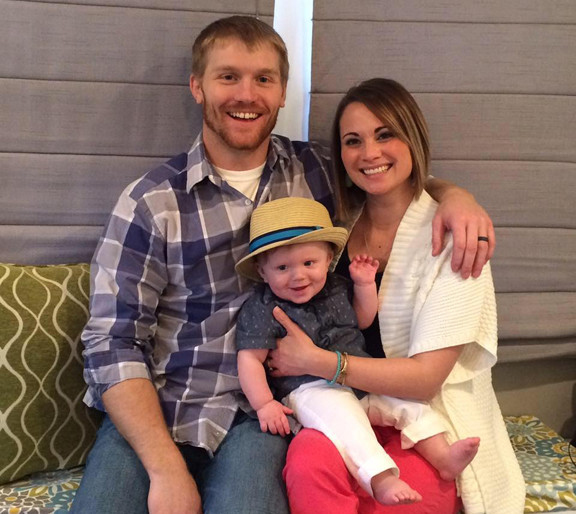 Brett and Alicia Brockhouse (as a family) and individually enjoy time with Asher.
