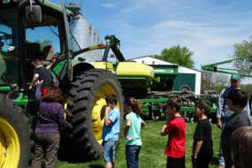 Fourth-graders enjoy the farm