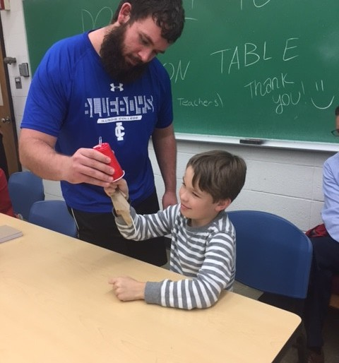 Tomorrow's Teachers and Parker After Dark teamed up for a one-hour Science Night for approximately twenty-five elementary aged students. Children were shown several scientific experiments, were able to ask questions and engage in the activities.