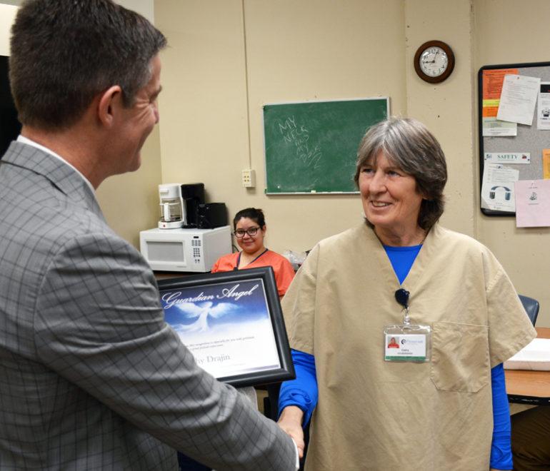 Drajin honored as Guardian Angel recipient