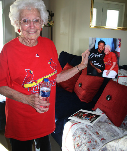 Helen and St. Louis Cardinals starting pitcher Carlos Martinez