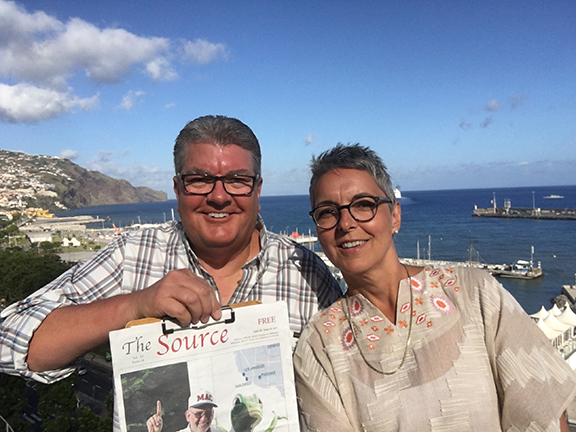 Bruce and Dessa Surratt enjoy The Source while in Madeira, Portugal