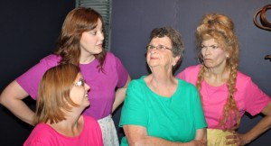 "The cast from Ken Brabury's new musical, ""Pearl's Place,"" at Playhouse on The Square includes: (from l-r) Stephanie Soltermann, Carrie Carls, Sylvia Burke and Sherri Mitchell."