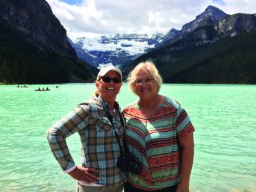 Sisters bond in Banff