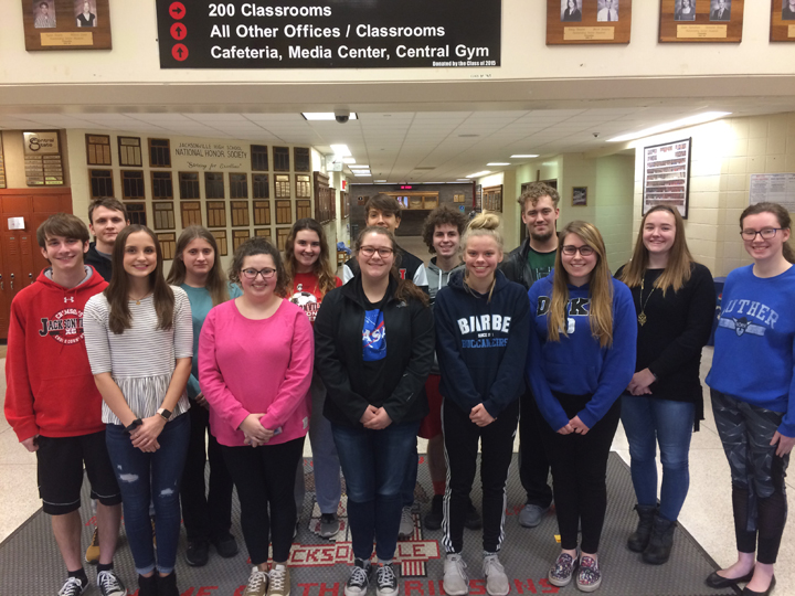 ILLINOIS STATE SCHOLARS AT Jacksonville High School
