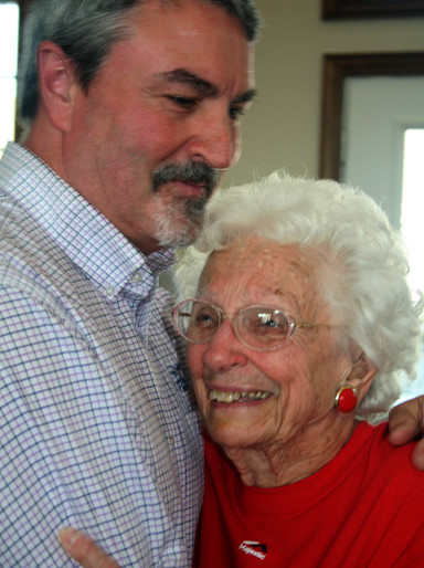 CNB Assist VP and his mother Helen Glisson