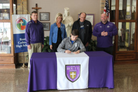 Ethan Flinn signing day at Routt