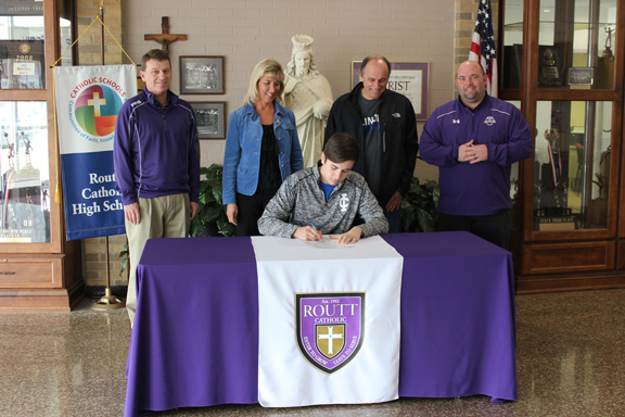 Ethan Flinn signing day at Routt