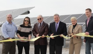 IREC solar ribbon cutting photo