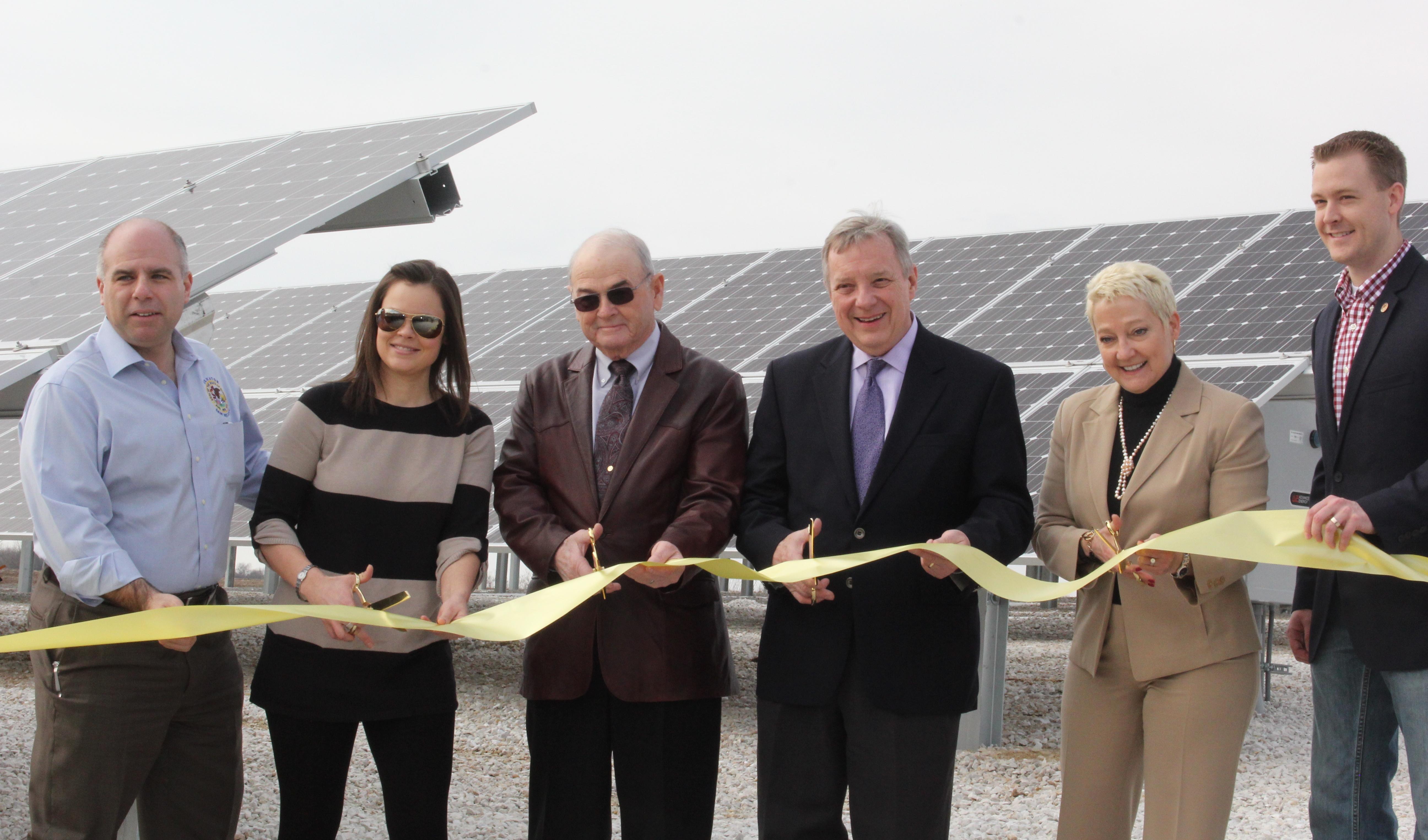 IREC solar ribbon cutting photo