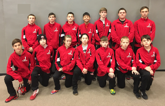 Jacksonville Middle School wrestlers recognized for their accomplishments as student athletes