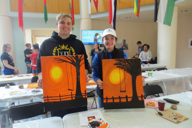 The Women of Chi Beta Literary Society hosted a paint night fundraiser to support Big Brothers Big Sisters.