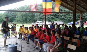 Ministering in music to Romanian children