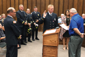 Matt Summers sworn in