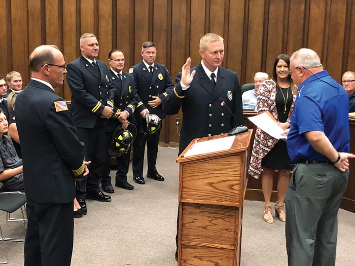 Matt Summers sworn in