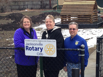 Jacksonville Rotary and Interact Clubs Collaborate on Playground Project