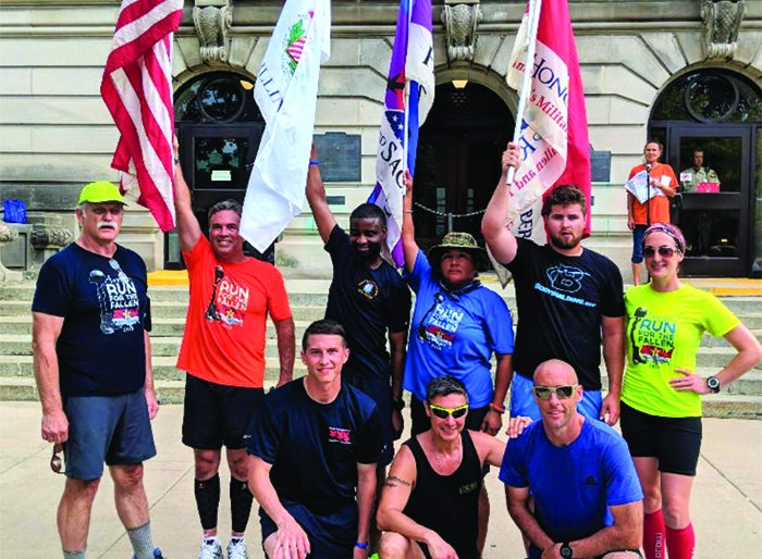 The runners shown above were the group that ran in Staff Sergeant Matthew Weikert