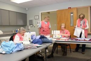Volunteers.Sewing Ladies