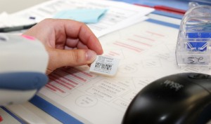 Photos/Special to The Source Newspaper A nurse uses a bar code scanner to scan a single dose medication.