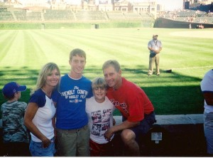 blake and fam at wrigley