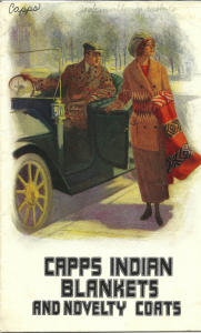 Old advertisement: Capps Indian Blankets