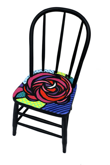 Pop art chairs to be auctioned at Beaux Arts Ball dance