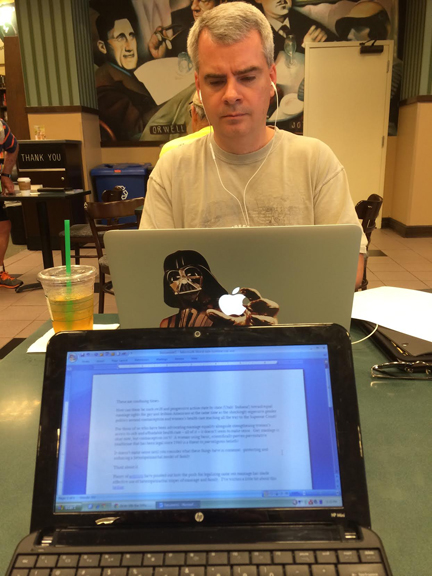 Mark Schelske: The coffee shop writer