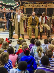 Shakespeare Festival St. Louis cast performs for a captive audience (photo Special to the Source)