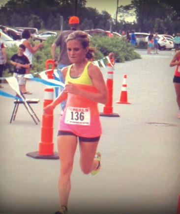 Local runner Shannon Cole in contest