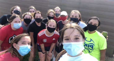 The JHS Girls' Soccer team and fall fun