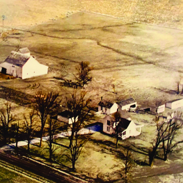 Special to The Source The bunkhouse can be seen near the middle of the aerial photo just above the farmhouse.