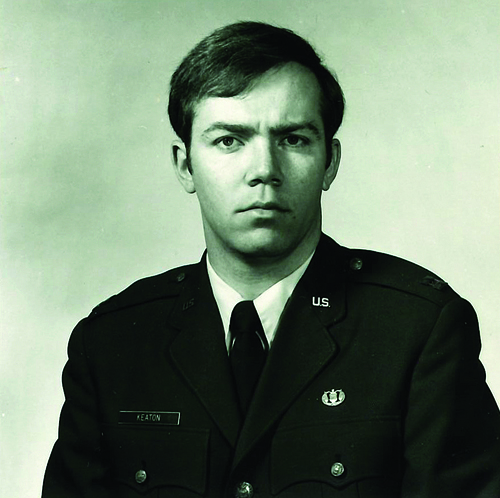 Forrest Keaton in 1977 as he went on active duty. Rank at the time: Captain, United States Air Force.